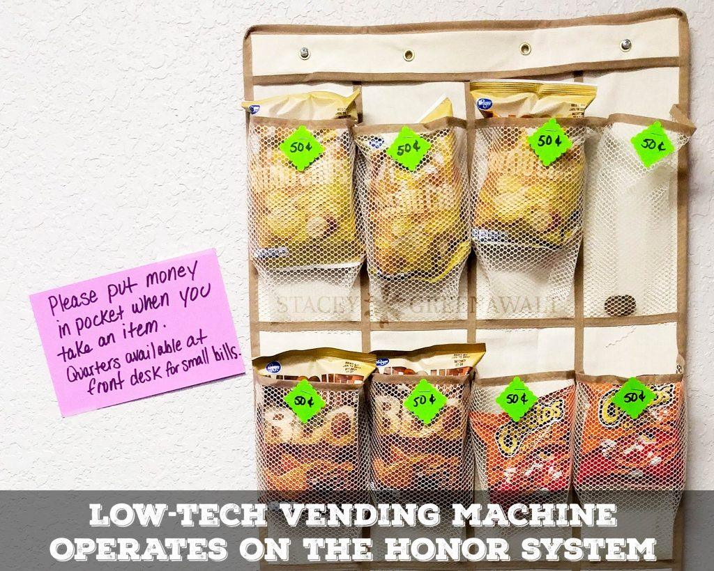 Low tech vending machine runs on the honor system