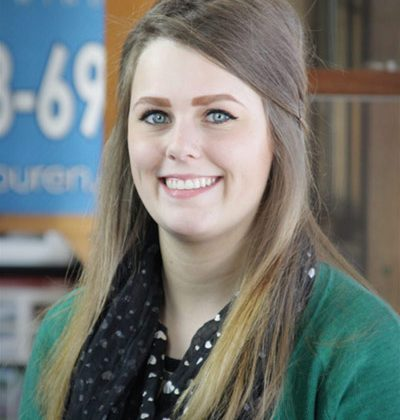 Meagan Thomson, Office Manager at Stevan Buren Roofing, Windows, & Flooring