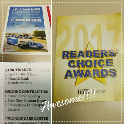 Stevan Buren Roofing, Windows, & Flooring is voted #1 Building Contractor by readers of Cleburne Times Review