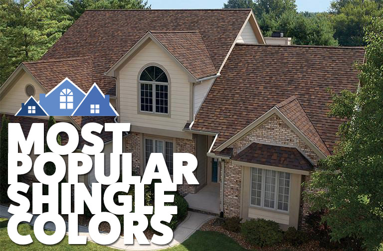 Most popular shingle colors