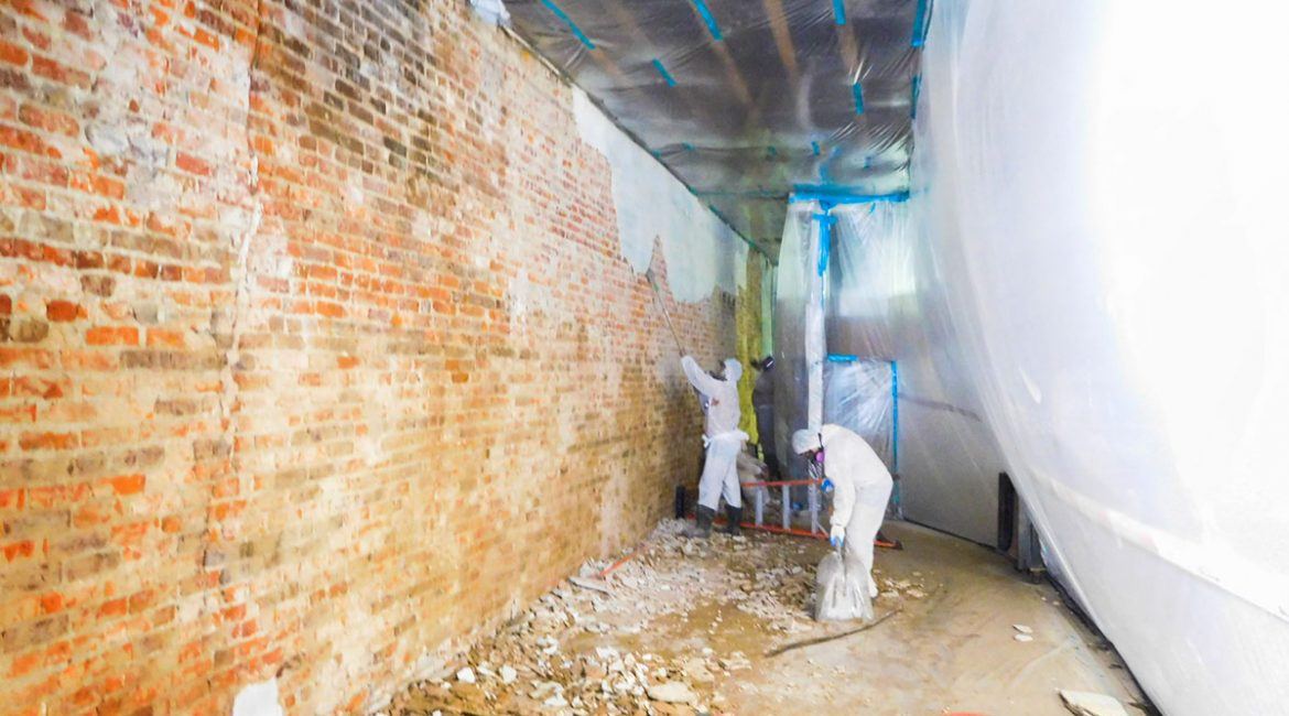 What does an asbestos abatement look like?