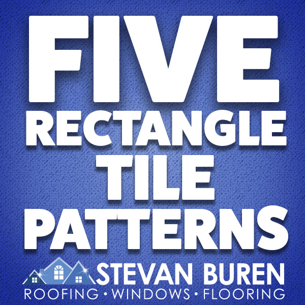 Five rectangle tile patterns