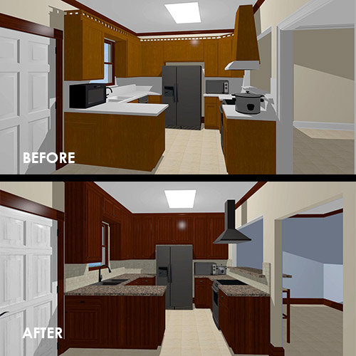 Video: Virtual kitchen remodel walkthrough