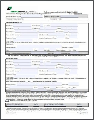 Finance Form Thumbnail