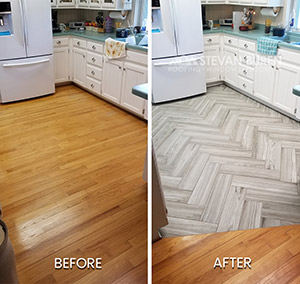 Job Highlight: Herringbone tile floor