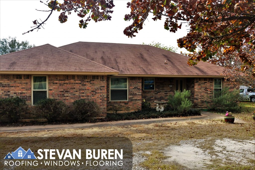 Stevan Buren Windows Installed Tan KHPP Genesis Windows in Granbury Texas.